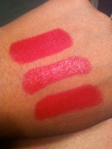 (top to bottom) RiRi Woo, Russian Red & Ruby Woo